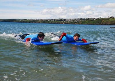 Body Boarding at English Language Ireland summer camp