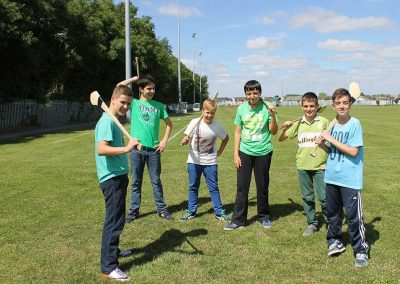 Hurling at English Language Ireland summer camps
