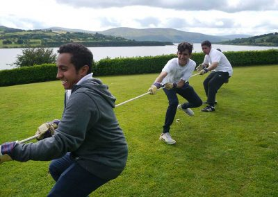 Tug of war at summer camps